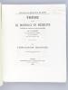 De l'Impaludisme chronique. Thèse pour le Doctorat en médecine présentée et soutenue le lundi 2 août 1869 [ Edition originale - Livre dédicacé par ...