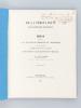 De la périovarite par suppression des règles [ Edition originale - Livre dédicacé par l'auteur ] Thèse présentée à la Faculté de Médecine de ...