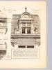 Monographies de Bâtiments Modernes - Hôtel Rue Juliette Lamber N° 12, Paris, Mr. Pradier Architecte. DUCHER (édit.) ; RAGUENET, A. (dir.) ; M. PRADIER ...