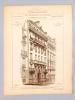 Monographies de Bâtiments Modernes - Maison rue du Rocher à Paris, Mr. E. Le Chevalier Architecte [ immeuble à présent au N° 26 rue du Rocher ]. ...