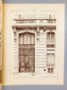 Monographies de Bâtiments Modernes - Maison Quai de Billy 52 à Paris, Mr. Ch. Adelgeist Architecte [ désormais, 52 Avenue de New York ]. DUCHER ...