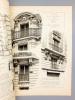 Monographies de Bâtiments Modernes - Maison rue des Poitevins et rue Serpente à Paris, Mr. L. Meister Architecte [ immeuble dont la façade principale ...