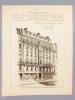 Monographies de Bâtiments Modernes - Maison Avenue Bosquet 65 à Paris, Mr. P. Noël Architecte. DUCHER (édit.) ; RAGUENET, A. (dir.) ; NOEL, P. ...
