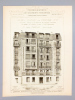 Monographies de Bâtiments Modernes - Maison ouvrière rue Fourcade N° 9 , faisant partie d'un groupe de douze maisons ouvrières ou à petits loyers à ...