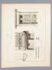 Monographies de Bâtiments Modernes -  Maison rue Lagrange 14 à Paris, Mr. P. Wallon Architecte. DUCHER FILS (édit.) ; RAGUENET, A. (dir.) ; WALLON, P. ...
