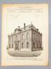 Monographies de Bâtiments Modernes -  Tribunal de Commerce de Fécamp (Seine-Infér.), Mr. E. Bénard Architecte [ désormais 2 Place Adolphe Bellet, ...