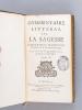 Commentaire littéral sur les Livres Sapientiaux (2 Tomes - Complet) Tome I : Commentaire littéral sur les Proverbes de Salomon - Commentaire littéral ...