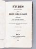 Etudes révolutionnaires. Philippe d'Orléans-Egalité. Monographie par Auguste Ducoin [ Edition originale ]. DUCOIN, Auguste