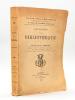 Catalogue de la Bibliothèque de Feu M. Ernest Labadie [ Catalogue de référence pour les ouvrages sur Bordeaux, la Gironde, la Gascogne et la Guyenne , ...