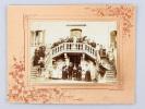 Photographie ancienne de groupe pour mariage. Mention Jeanne Faure, Pessac sur Dordogne, rue Ribebon . Collectif