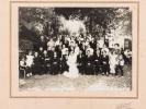 4 photographies de mariage, de groupe, Etablissement Des Acacias, Traiteur Mongay Propriétaire [ Bègles, Vers 1930-1935 ]. LAVIGNE, J.