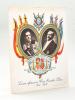 S.M. Alphonse XIII Roi d'Espagne - M. Poincaré Président de la République  [ Carte Souvenir ] Souvenir offert par le Bon Marché Paris Mai 1913. ...
