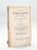 Catalogue des Livres Anciens et Modernes composant la Bibliothèque de feu M. Emile Bigillion (de Grenoble). Deuxième Partie. Vente aux Enchères ...