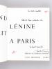 Quand Lénine vivait à Paris [ Livre dédicacé par l'auteur ]. FELD, Charles ; (COGNIOT, Raymond)