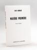 Matière Première. Versets poétiques [ Edition originale ]. GOURGUE, Jean