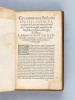 L'Histoire Ecclésiastique, translatée de Latin en François, par Messire Claude de Seyssel. EUSEBIUS ; SEYSSEL, Claude de ; [ EUSEBE DE CESAREE ]