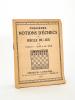 Première notions d'échecs et règle du jeu. DELAIRE, Henri