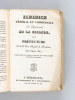 Almanach Général et Commercial du Département de la Gironde, de la Préfecture, et de la Cour Royale de Bordeaux pour l'année 1834. Collectif