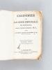 Calendrier de la Cour Impériale de Bordeaux, pour l'Année Commune 1813. Collectif