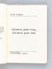 Chansons pour vous, chansons pour moi [ Edition originale - Livre dédicacé par l'auteur ]. PERRIGUEY, Nicolas