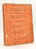 Annales Politiques, Littéraires et Statistiques de Bordeaux, divisées en cinq parties [ Edition originale ] ; [ Formant ensemble un corps complet de ...