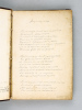 Liber amicorum and Collection of poems copied in Flemish, English, French and German. With poems copied on various authors (Petrus Augustus de ...