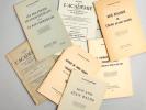 [ Lot de 9 tirés-à-part, la plupart dédicacés par l'auteur à Albert Rèche ] Mon Amie Jean Balde - Les Relations de Louis Veuillot avec le Pays ...