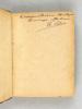 Précis d'Histoire de la Révolution. Livre Premier : L'Assemblée Nationale Constituante [ Livre dédicacé par l'auteur ]. CAT, E.