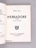 Herbadore. Poèmes. [ Edition originale - Livre dédicacé par l'auteur ]. JACK, Muriel