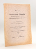 Note sur plusieurs Espèces d'Ammonites Nouvelles, Rares ou Peu Connues du Callovien moyen des Environs de Niort (Deux-Sèvres) [ Edition originale - ...
