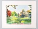 Vue au Parc Montsouris. Aquarelle originale signée. MEKUSA, Angela