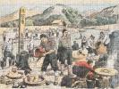 [ Puzzle tiré du Supplément illustré du Petit Journal du 17 septembre 1905 : ] Les Loisirs de la Paix. La pêche à la ligne et le bain des soldats ...
