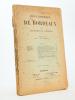 Revue historique de Bordeaux et du Département de la Gironde, Dixième Année - 1917 ( Année incomplète, 5 numéros sur 6, n° 1 à 5 ). Collectif ; Revue ...