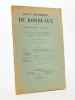 Revue historique de Bordeaux et du Département de la Gironde, Trente-Troisième Année - 1940 ( Année incomplète, 3 numéros ) : n° 1 ; 2-3. Collectif ; ...