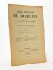 Revue historique de Bordeaux et du Département de la Gironde, Trente-Septième Année - 1944 ( Année complète en un seul numéro ). Collectif ; Revue ...