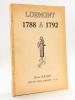 Lormont 1788 à 1792. Amis du Vieux Lormont n° 11 [ Livre dédicacé par l'auteur ]. SOUQUE, Henri