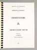 Université de Bordeaux I - Observatoire, rapport d'activité 1980-1981, présenté par F. Poumeyrol, directeur de l'Observatoire.. Observatoire de ...