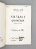 Analise gramatical logico-sintactica , 1° e 2° ciclo Portugês Francês , 2° ciclo Latim [ copy signed by the author ]. ALVES, Americo F.