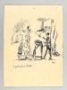 [ Le petit marchand d'Oublies ] Dessin original à l'encre signé Malap . MALAPERT, Louis Maurice dit MALAP