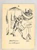 [ Georges le Bonisseur et son ombrelle japonaise ] Dessin original à l'encre signé Malap . MALAPERT, Louis Maurice dit MALAP