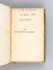 Les Sentiments de Critias [ Edition originale - Livre dédicacé par l'auteur ]. BENDA, Julien