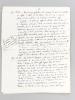 Lettre autographe de Jacques Rueff, répondant à un courrier du Professeur Georges-Henri Bousquet, probablement à propos d'une éventuelle réédition de ...