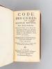 Code des Curés, ou Nouveau Recueil des Règlemens (Tome I) Concernant les Dixmes, les Portions Congruës ; les Fonctions, Droits, Honneurs, Exemptions & ...
