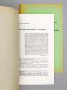 Trois études sociologiques de J. Schumpeter ( Revue européenne des sciences sociales, Tome XIX 1981, n° 59 ) [ tiré à part ] ; In Memoriam ...