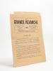 """[ Lot de deux numéros et d'un prospectus relatifs à la réalisation d'un Livre d'Or de la promotion de Saint-Cyr 1914, """"La Grande Revanche"""" ] : La ..."""