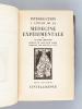 Introduction à l'Etude de la Médecine Expérimentale (2 Tomes - Complet) [ Exemplaire sur papier d'Annam numéroté ]. BERNARD, Claude ; (MAHN, Berthold ...