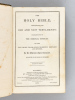 The Holy Bible, containing the Old and New Testaments. AAVV