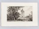 Eglise d'Escaudes [ Eau-forte originale extraite de la Revue Catholique de Bordeaux ]. DROUYN, Léo