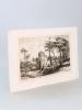 Façade de N. D. de Soulac, en 1858, avant sa restauration [ Eau-forte originale extraite de la Revue Catholique de Bordeaux : Abside de l'Eglise ...