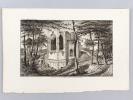 Eglise de N. D. de Soulac, en 1858, avant sa restauration [ Eau-forte originale extraite de la Revue Catholique de Bordeaux : Abside de l'Eglise ...